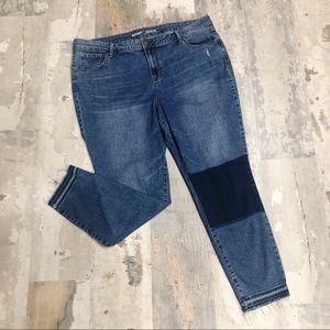 Old Navy Rockstar Mid - Rise Frayed Hem Jeans